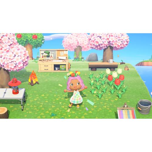 miniature 21 - Nintendo Switch Lite Console Bundle with Animal Crossing + Fiber Cloth