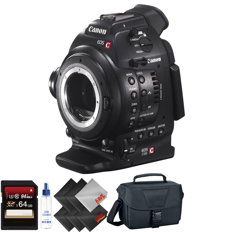 Canon EOS C100 Cinema EOS Camera +Dual Pixel CMOS AF  + 64GB