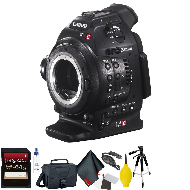 Canon EOS C100 Cinema EOS Camera with Dual Pixel CMOS AF Bod